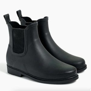 J. Crew Factory Chelsea Rain Boots Black 8